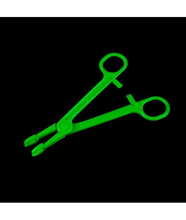 Disposable sterile tweezers round open