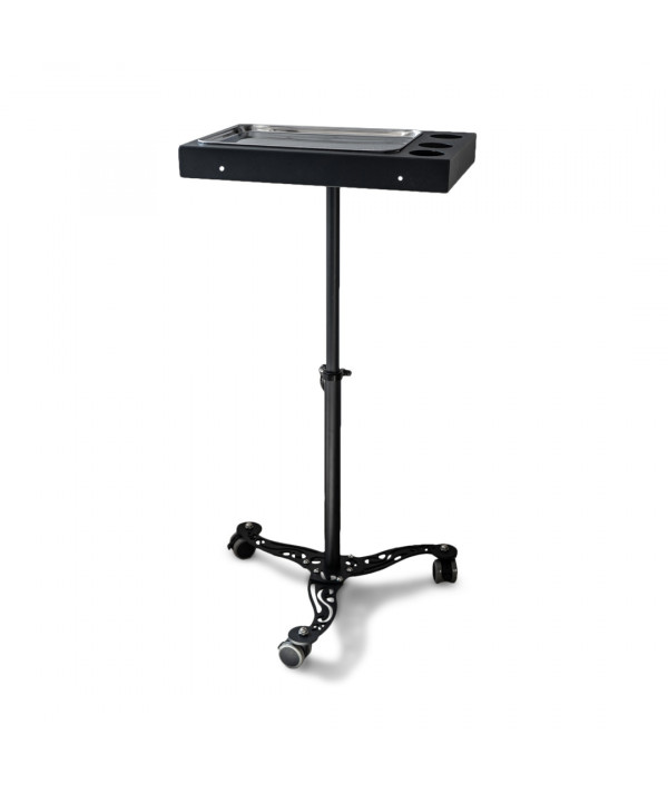 working table on wheels with stands stain s 2